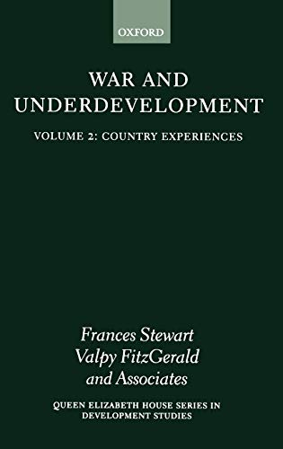 War and Underdevelopment: Volume 2: Country Experiences (Hardback)