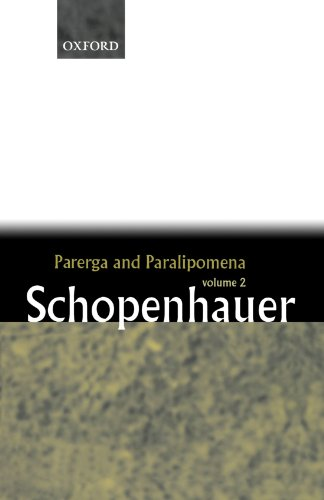 9780199242214: Parerga and Paralipomena: Volume 2: Short Philosophical Essays