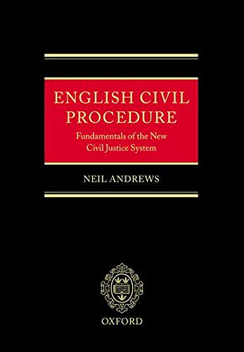 9780199244256: English Civil Procedure: Fundamentals of the New Civil Justice System