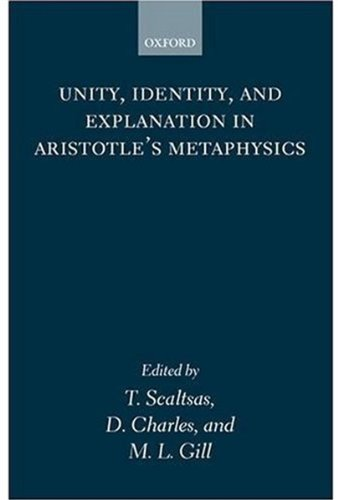 9780199244416: Unity, Identity and Explanation in Aristotle's Metaphysics