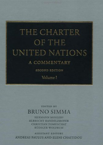 9780199244492: The Charter of the United Nations: A Commentary: 001
