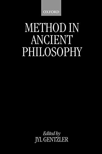 9780199244980: Method in Ancient Philosophy