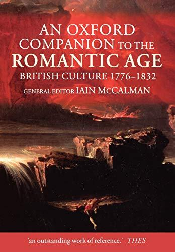 9780199245437: An Oxford Companion to The Romantic Age: British Culture 1776-1832