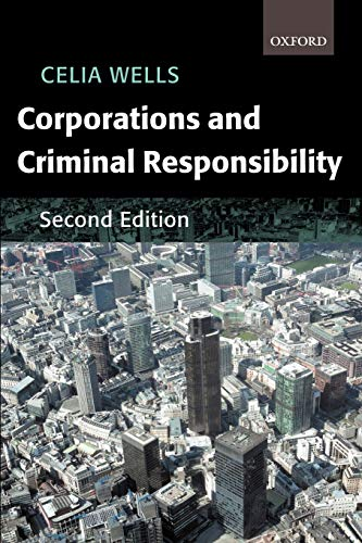 9780199246199: Corporations and Criminal Responsibility (Oxford Monographs on Criminal Law and Justice)