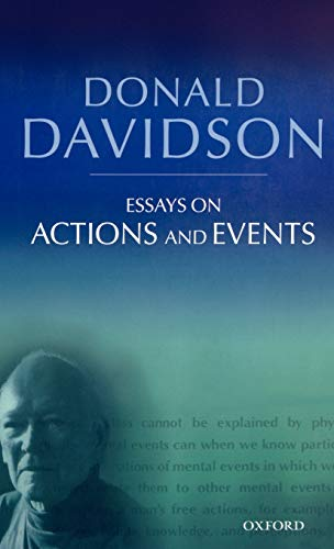9780199246267: Essays on Actions and Events: Philosophical Essays Volume 1