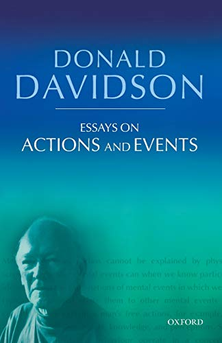 Essays on Actions and Events. Philosophical Essays Volume 1.: DAVIDSON, D.,