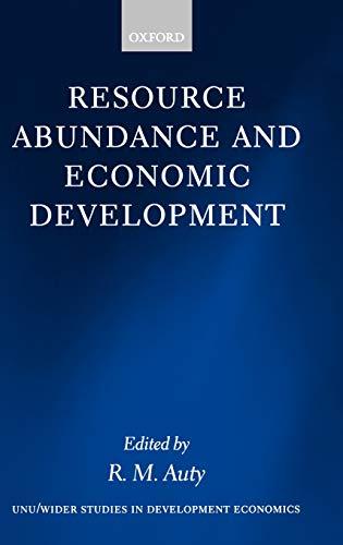 9780199246885: Resource Abundance and Economic Development (WIDER Studies in Development Economics)