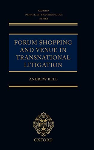 9780199248186: Forum Shopping and Venue in Transnational Litigation (Oxford Private International Law Series)