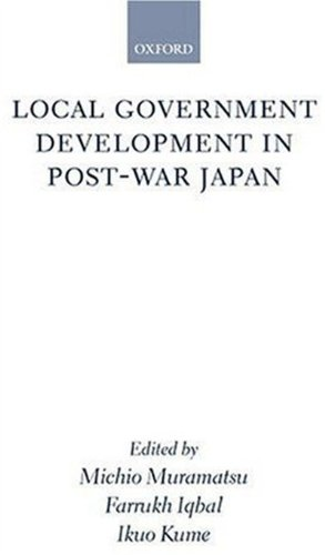Local Government Development in Postwar Japan: Oxford University Press