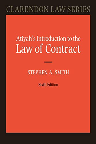 9780199249411: Atiyah's Introduction to the Law of Contract (Clarendon Law Series)