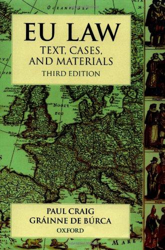 9780199249435: EU Law: Text, Cases and Materials