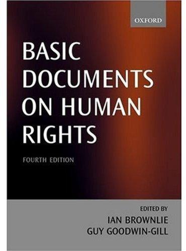 9780199249442: Basic Documents on Human Rights (Scientific Computation)