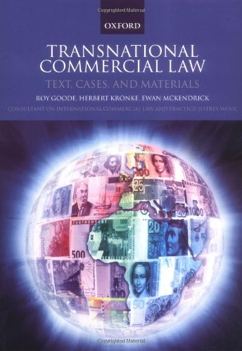 9780199251667: Transnational Commercial Law: International Instruments and Commentary