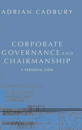 9780199252008: Corporate Governance and Chairmanship: A Personal View