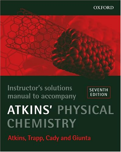 9780199252336: Instructor's Solutions Manual to Accompany Atkins' Physical Chemistry