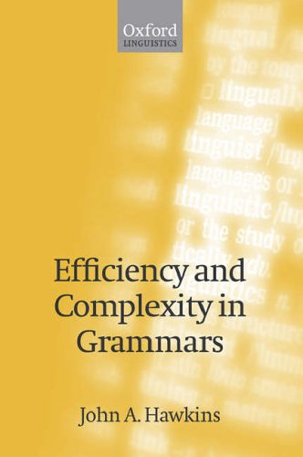 Efficiency and Complexity in Grammars: Hawkins, John