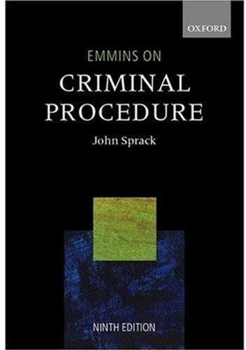 9780199253500: Emmins on Criminal Procedure