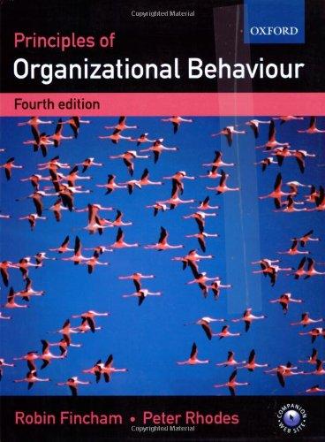 9780199253975: Principles of Organizational Behaviour