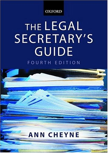 9780199254224: The Legal Secretary's Guide