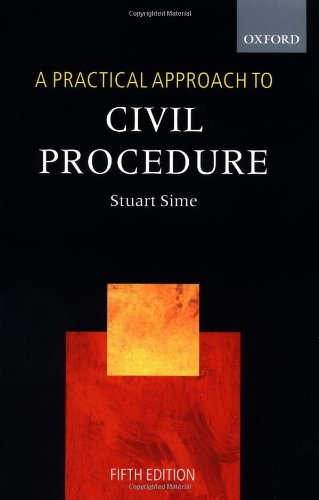 9780199254378: A Practical Approach to Civil Procedure (Blackstone's Practical Approach Series)