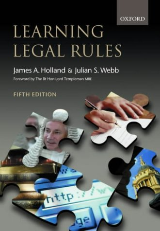 9780199254828: Learning Legal Rules: A Student's Guide to Legal Method and Reasoning (5th Edition)