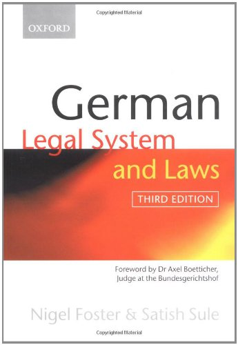 9780199254835: German Legal System and Laws