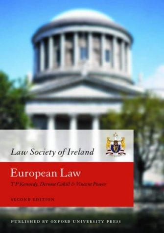 9780199254842: European Law (Law Society of Ireland Manual)