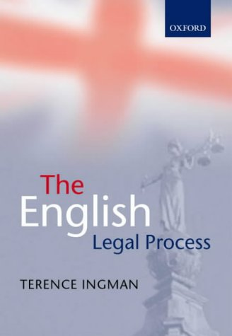 9780199254958: The English Legal Process