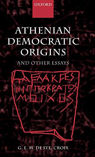 9780199255177: Athenian Democratic Origins: And Other Essays