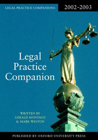 9780199255405: Legal Practice Companion 2002/2003 (Blackstone Legal Practice Companion)