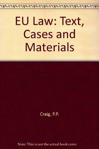9780199256082: EU Law: Text, Cases and Materials