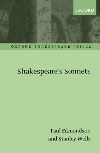 9780199256112: Shakespeare's Sonnets (Oxford Shakespeare Topics)