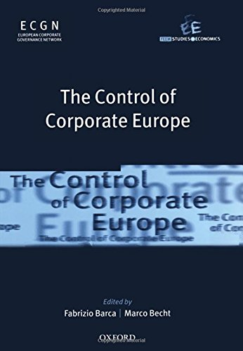 The Control Of Corporate Europe (Feem Studies: Barca, F. &