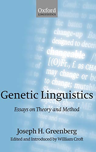 9780199257713: Genetic Linguistics: Essays on Theory and Method