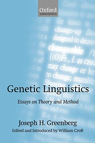 9780199257720: Genetic Linguistics: Essays on Theory and Method