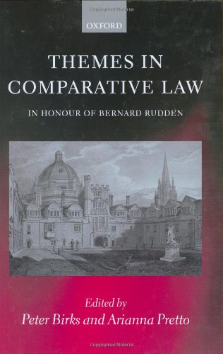 9780199258567: Themes in Comparative Law: In Honour of Bernard Rudden