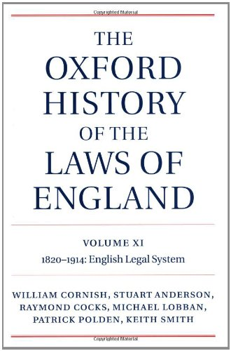 The Oxford History of the Laws of: Cornish, William; Anderson,