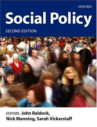 9780199258949: Social Policy