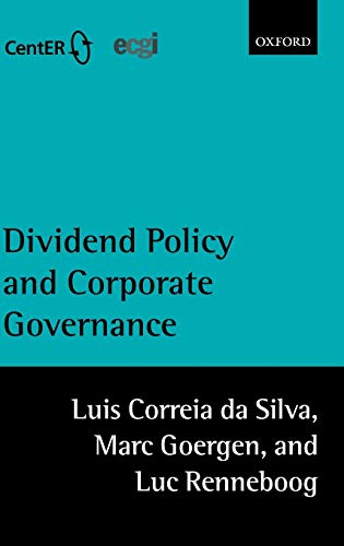 9780199259304: Dividend Policy and Corporate Governance