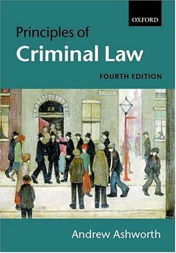 9780199259809: Principles of Criminal Law