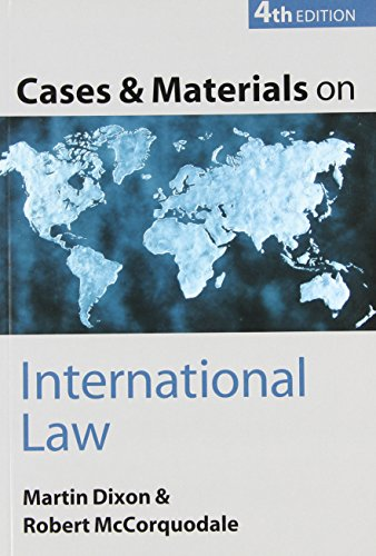9780199259991: Cases and Materials on International Law