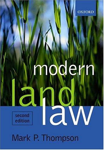 9780199260485: Modern Land Law