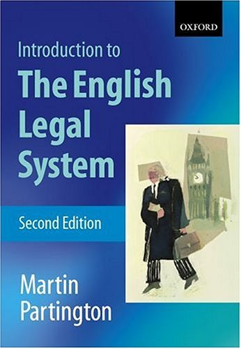 An Introduction to the English Legal System.: Partington, Martin