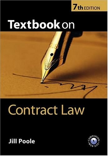 9780199260607: Textbook on Contract Law