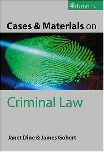 9780199260706: Cases and Materials on Criminal Law