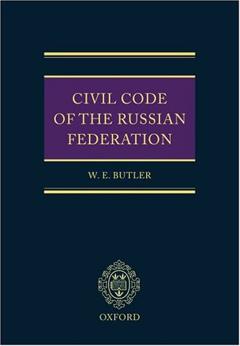 9780199261536: Civil Code of the Russian Federation (Pt.1, 2 & 3)