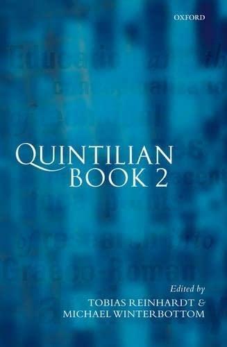 9780199262656: Quintilian Institutio Oratoria: Book 2 (Bk. 2)