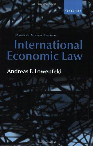 9780199264117: International Economic Law (International Economic Law Series)