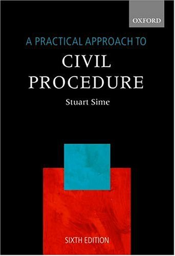 9780199264193: A Practical Approach to Civil Procedure