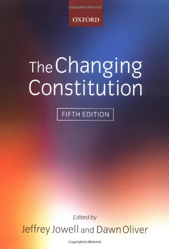9780199264391: The Changing Constitution